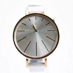 Calvin Klein Women's K3E236L6 Equal White Leather Analog Watch Calvin Klein. $239.95. Steel Bracelet Strap. Analog Display. Save 26%!