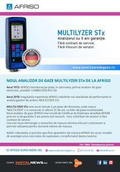 Noul analizor de gaze MULTILYZER STx de la AFRISO