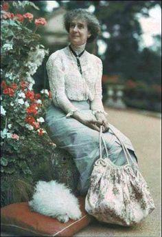 Marie de Rothschild with her pet dog. 1910.