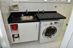 Armário embaixo do tanque, tanque embutido, armários do lado da maquina de lavar roupas