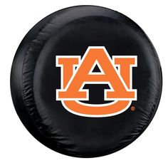 Auburn Tigers Black Tire Cover - Standard Size