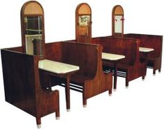 1600: Soda fountain booth unit (3 sections)
