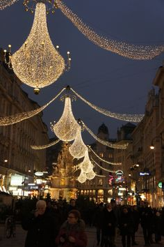 Vienna's Christmas Market lights