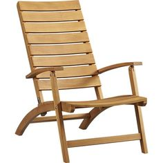 Brant Natural Folding Chair | Crate and Barrel