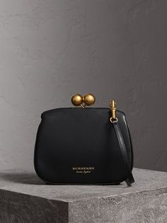 Burberry Small Leather Frame Bag In Black Burberry Handbags, Prada Handbags, Burberry Bags, Handbags Online, Leather Chain, Leather Bag, Copper And Pink, Frame Bag, Bowling Bags
