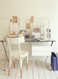 I really love the look of the plain wooden chair painted white but leaving the legs natural. I've also seen it in reverse and love it too.