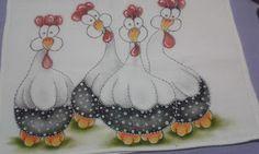 Na Cor da Arte: Pintura em camadas: galinhas