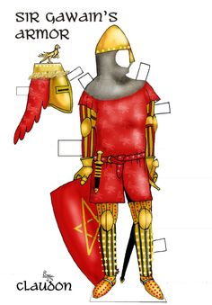 Sir Gawain and the Green Knight Paper Doll Set*** Paper dolls for Pinterest friends, 1500 free paper dolls at Arielle Gabriel's International Paper Doll Society, writer The Goddess of Mercy & The Dept of Miracles, publisher QuanYin5