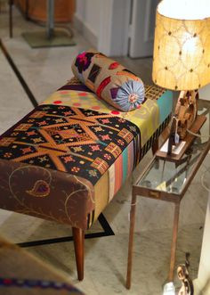 Bench with Palestinian embroidery