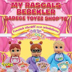 Yumuşacık interaktif Oyun Arkadaşınız Rascals Bebekler Toyzz Shop'ta! 3 farklı çeşidi bulunan Rascals Bebekler kızların yeni arkadaşı olacak. Burnuna dokunduğunuzda hapşıran Rascals Bebekler  iki gözünü kapattığınızda ce-eee yapıyor, çenesine dokunduğunuzda bebekçe sesler çıkarıyor. Ayrıca gülen ve şarkı söyleyen Rascals Bebekleri kızlar çok sevecek.