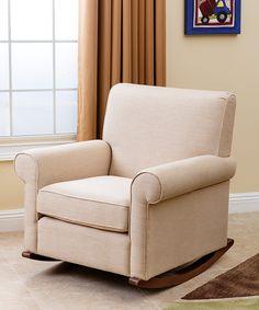 Love this Wheat Shannon Linen Rocker Chair by Abbyson Living on #zulily! #zulilyfinds