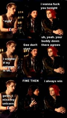 Frerard (: holy crap frank looks hot here
