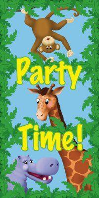 kids jungle birthday party pictures | Jungle Safari Door Poster