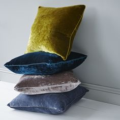 Beautiful luxurious silk velvet cushions in a rich range of colours - the perfect finishing touch to your home. Simply stunning.  Each cushion comes with a duck-down cushion pad insert.