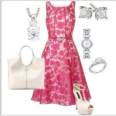 Pink and white! So pretty! Such a classy and ladylike look!