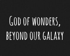 God of Wonders  #christian