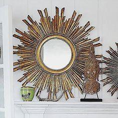 sunburst mirror - Google Search White Wall Mirrors, Rustic Wall Mirrors, Contemporary Wall Mirrors, Mirror Wall Art, Round Wall Mirror, Round Mirrors, Sun Mirror, Mirror Collage, Mirror Bedroom