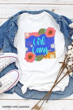Need a gift for her? Maybe it's a gift for moms or a gift for friends. This girl gang womens t-shirt is a great gift idea for her! Grab this girl gang cute women's t-shirt here! #womenstshirt #giftsforwomen #girly #top #woman #giftideaforher #funnyshirt #giftsformom #giftsforgirls