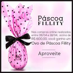 A nossa loja online está com uma promoção deliciosa de Páscoa!   Os clientes que fizerem compras online acima de R$ 600, de 08/04 a 18/04, poderão retirar um Ovo Fillity em qualquer loja da rede até o dia 18/04.   Aproveitem!!!!! ♡  http://loja.fillity.com.br/   #fillity #fillity25anos #pascoafillity