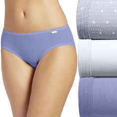 Jockey Elance 3-pk. Super Soft Bikini Panties 2070 - Women's, Size: 8, Yellow Oth