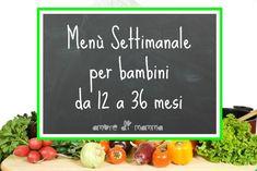 MENU' SETTIMANALE BAMBINI 12-36 MESI