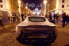 James Bond's Aston Martin DB10 used in Spectre. Viewed here at the bottom of Via della Conciliazione, Rome #Bond24 #Spectre #Rome #Vatican #JamesBond