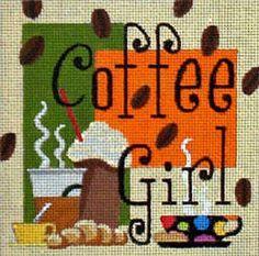 Raymond Crawford coffee needlepoint canvas