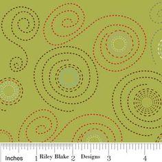 "Riley Blake-""Pirates"" Green Swirls by HouseOfJdawn on Etsy"