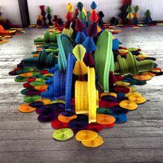 """Li Hongbo, """"Ocean of Flowers"""" - Biennale of Sydney, 2012 Paper Book, Paper Art, Altered Images, Paper Roses, Elk, Libraries, Museums, Sydney, Book Art"""