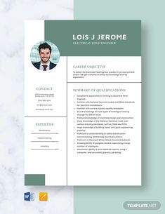 FREE Electrical Engineer Fresher Resume Template - Word (DOC) | PSD | InDesign | Apple (MAC) Apple (MAC) Pages | Publisher | Illustrator | Template.net Job Resume Format, Resume Design Template, Resume Cv, Cv Template, Resume Templates, Marriage Biodata Format, Bio Data For Marriage, Field Engineer, Apple Mac