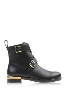 Chloé Black Leather Ankle Boot - We're absolutely crazy about Chloé. http://shop.harpersbazaar.com/in-the-magazine/new-now