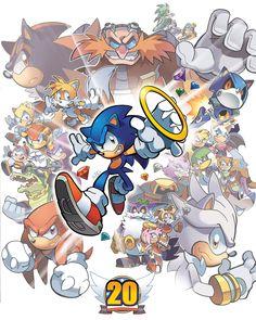 sonic the hedgehog Sonic The Hedgehog, Hedgehog Movie, Silver The Hedgehog, Shadow The Hedgehog, Happy Birthday Video, 20th Birthday, Sonic Underground, Mundo Dos Games, Happy Birthday Wallpaper