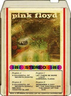 Pink Floyd - A Saucerful Of Secrets (8-Track Cartridge, Album) at Discogs