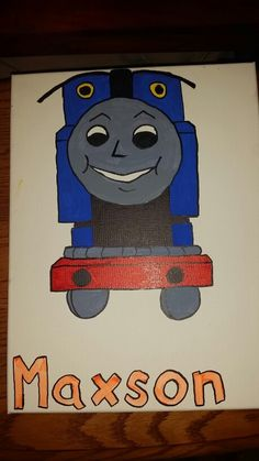 Thomas the train painting for my nephews 4th birthday.