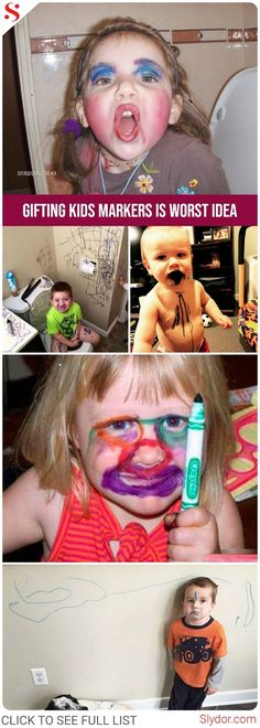 Reasons That Gifting Your Kids Markers Is Worst Idea#kids #kid #parents #markers #worst #fun #funny #humor #messups #slydor #dailydoseoffun #hilarious