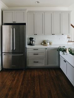 Kitchen Tour Ikea Kitchen Renovation // Garvin & Co.Ikea Kitchen Renovation // Garvin & Co. Kitchen Ikea, Kitchen Redo, Ikea Kitchen Remodel, Kitchen Pantry, Ikea Kitchen Design, Kitchen Hutch, Condo Kitchen, Kitchen Sinks, Cheap Kitchen