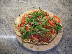 Rezept: Pfannen-Pizza vegetarische Variante - Low Carb