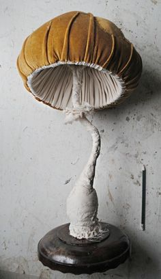 Large mushroom sculpture by Mister Finch <3 https://www.facebook.com/MisterFinchTextileArt