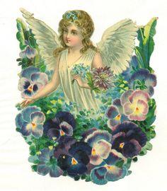 large victorian scrap angel uk.picclick.com