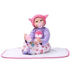 55 cm Haute qualité silicone reborn bébé poupée jouets réaliste réel nouveau-né fille bébés jouet d'anniversaire cadeaux présents pour enfant