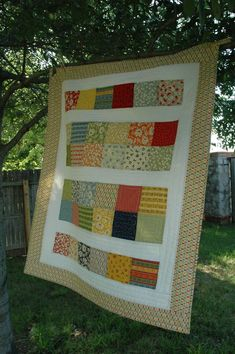 Easy Charm Pack quilt pattern  layer cake but could use for baby quilt with charms