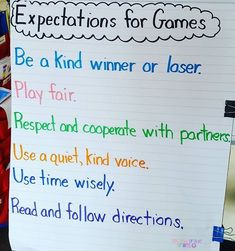 We're learning to be respectful game partners in second grade! 2nd Grade Classroom, Classroom Behavior, 2nd Grade Math, Third Grade, Classroom Posters, Grade 2, Classroom Ideas, Teaching Phonics, Primary Teaching