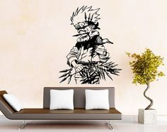 Naruto with Weapon Wall Decal Sticker Decor ** Product Description  Decal is die-cut without background and will show the background where it is applied.