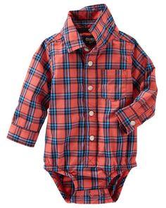 Baby Boy Plaid Button-Front Bodysuit from OshKosh B'gosh. Shop clothing &…