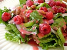 raspberry salad, raw vegan