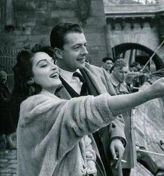Dalida en compagnie de Philippe Boutet, l'éditeur musical de Barclay