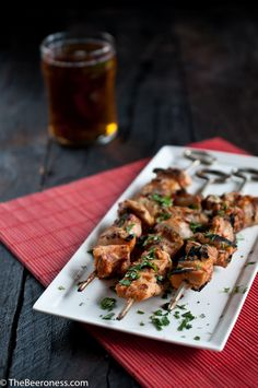 Yogurt and Beer Marinated Chicken Skewers 2