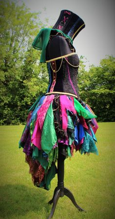 Hand Made Mad Hatter Skirt. Wonderland by FaerieInTheFoxglove