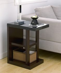 Black Bernadette Accent Table