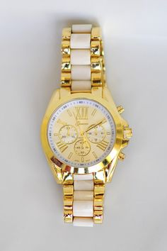 RESTOCK: Color Me In Gold Watch: Ivory